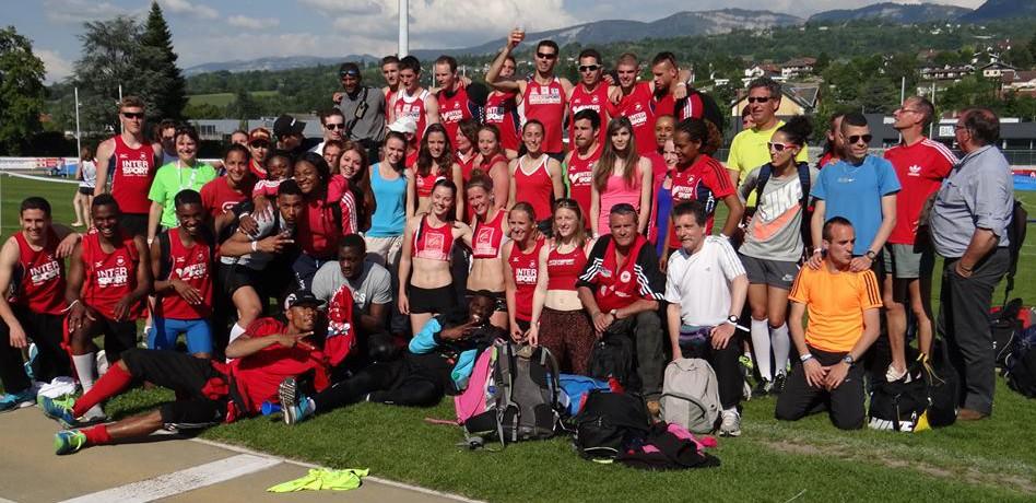 L'équipe de l'AUC Athlétisme à Aix-les-Bains