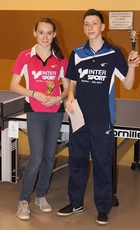 Léa HURE et Pierre Philippe NADAU (ASTT) qualifiés pour les Finales Nationales.