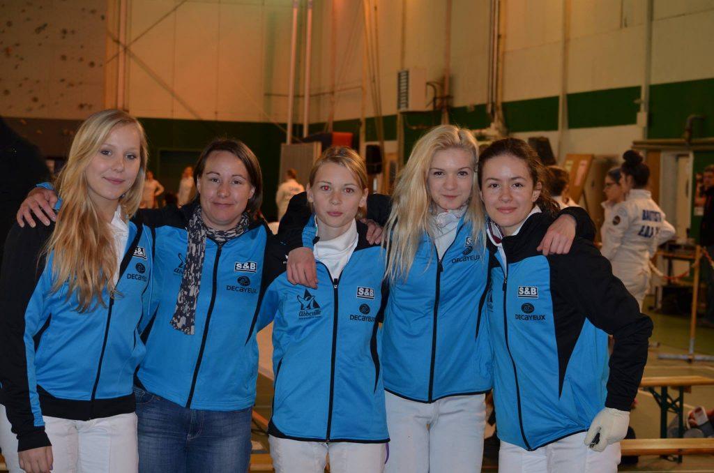 Les filles d'Abbeville (Vice-Championnes de France), avec l'amiénoise Aude