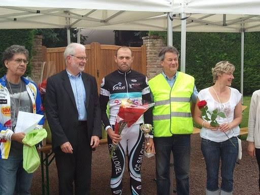 Dimitri Poret (CC Salouël), vainqueur du Grand prix FFC de Seux (80)