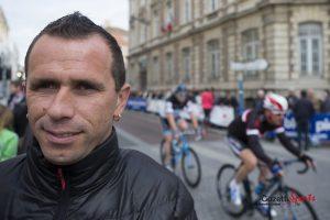 Jimmy Casper sur la ligne de départ. photos : Léandre Leber - Gazettesports.fr
