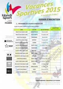 Dossier Inscription - Vacances Sportives 2015-4