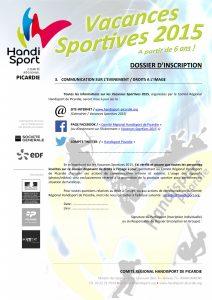 Dossier Inscription - Vacances Sportives 2015-5