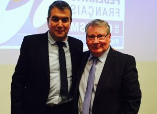 Hubert Louvet aux côtés de son collègue du Nord Pas de Calais Philippe Limousin.Gazettesports