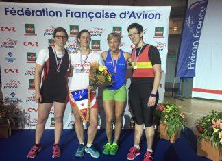 s.n.amiens,aviron, podium sna, aurélie decroix