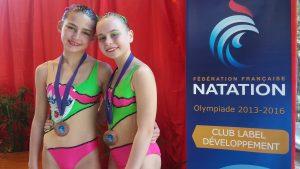 natation synchronisée pour Camille et Louane et en prime une qualif pour les n3 à Dunkerque !