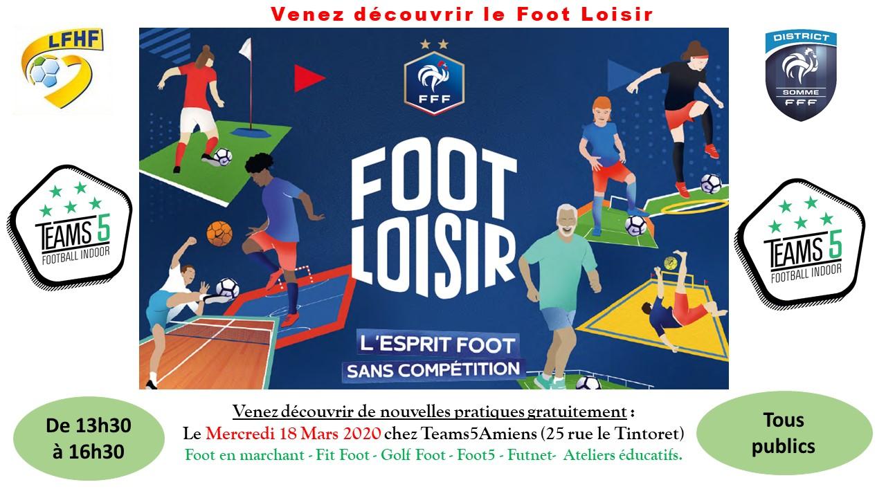 L'affiche Foot Loisir Teams 5 Amiens