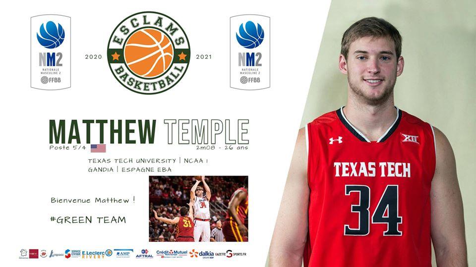 Mattew Temple Esclams Basket Ball
