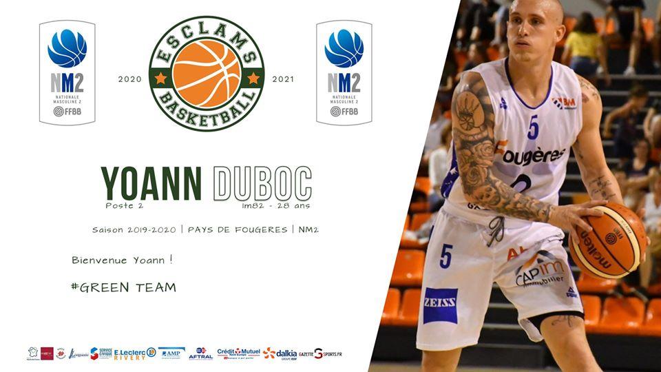 Yoann Duboc Esclams Basket Ball