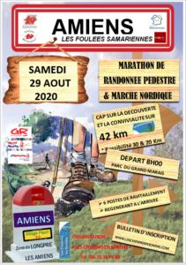 Nouvelle Affiche Marathon Pedestre 29 Aout 2020