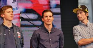 Tadej Pogačar (uae Team Emirates), Jan Polanc (uae Team Emirates) And Primož Roglič (team Jumbo Visma) Welcoming Ceremony After 2019 Giro D'italia