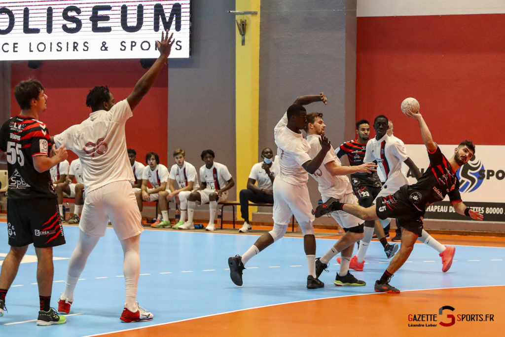 Handball Amiens Aph Vs Psg B 0064 Leandre Leber Gazettesports