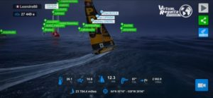 Virtual Regatta Screen Leandre Leber