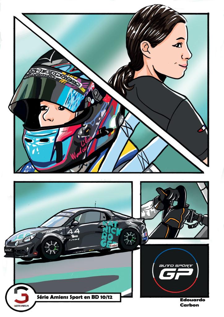 lilou wadoux patrick roger autosport gp alpine edouardo carbon illustration