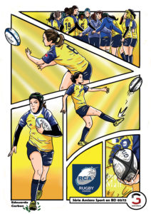 rugby feminin rca edouardo carbon illustration