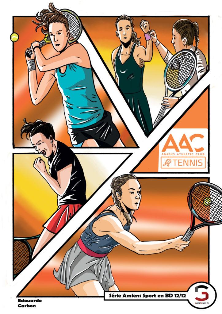 tennis aac amiens edouardo carbon illustration