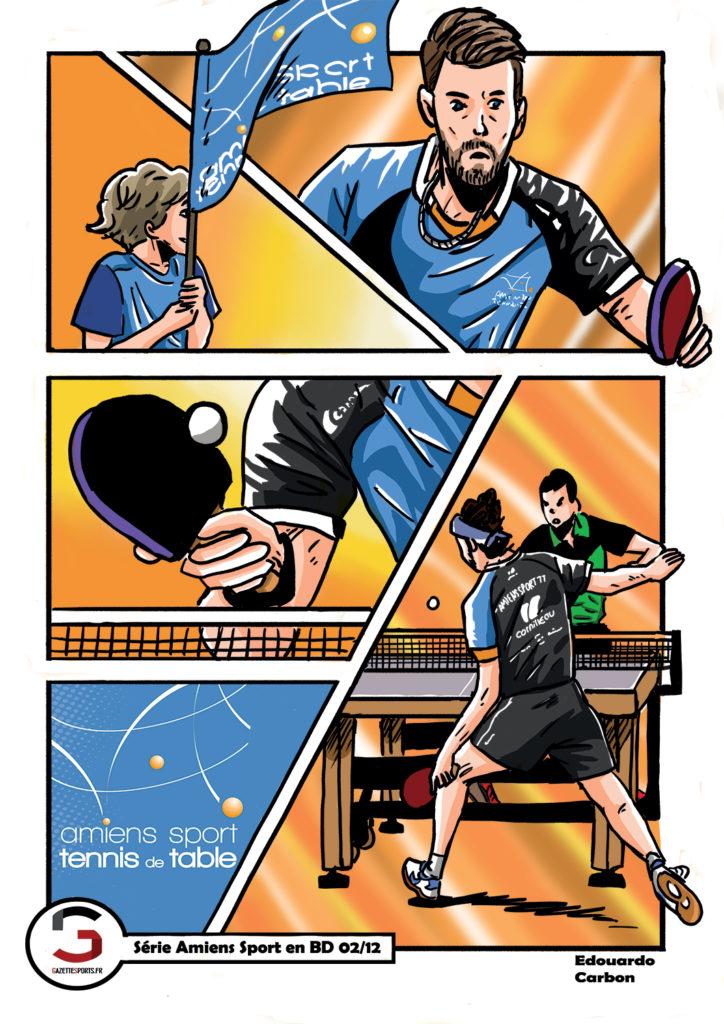 tennis de table astt amiens edouardo carbon illustration
