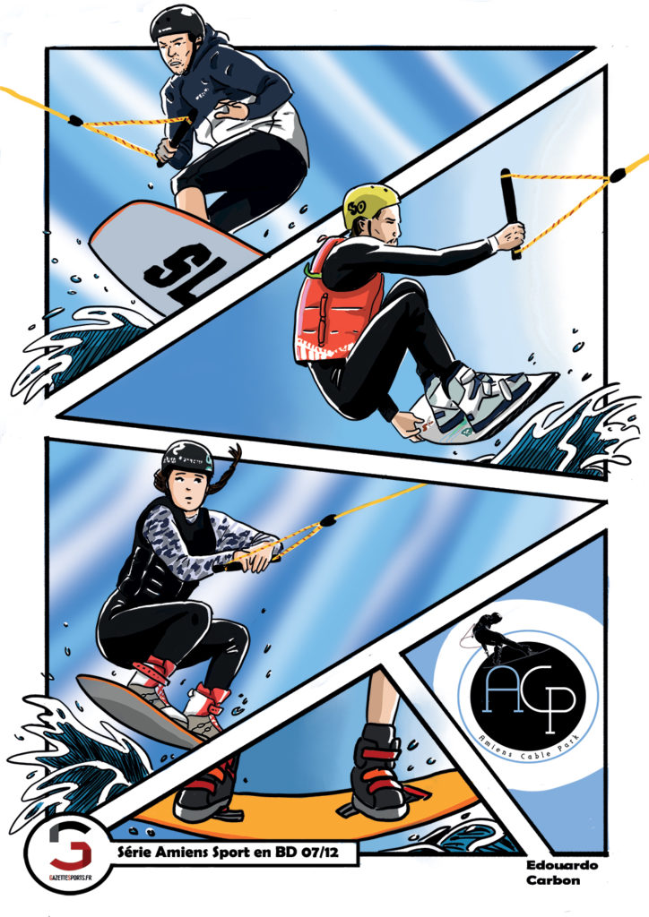 wakeboard amiens cable park acp edouardo carbon illustration